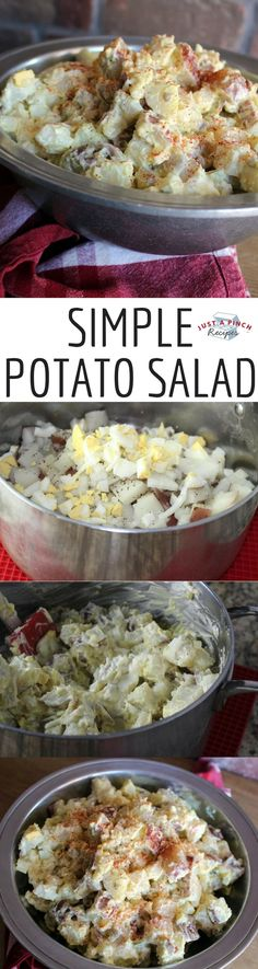 Creamy, simple and delicious! This potato salad has all the classic potato salad flavors and will be great for a party.