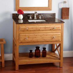 "36"" Castine Bamboo Vanity for Rectangular Undermount Sink"