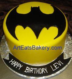 Batman birthday cake I made for a twin boys birthday made a