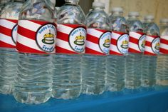 Dr. Seuss theme birthday party water bottles