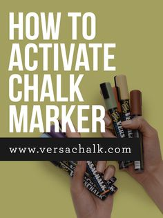 Versachalk - How to activate Chalk markers