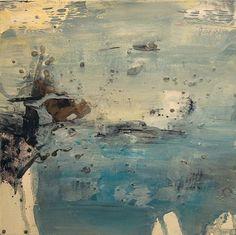 Anna Maria Papadimitriou - Light blue Touch - oil on canvas 25x25cm, 2016