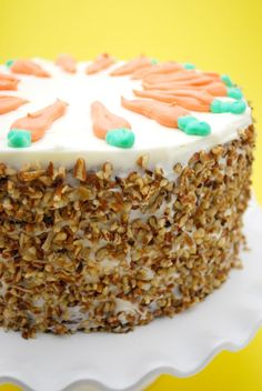 Carrot Cake with Cream Cheese Frosting on http://www.cakeandallie.com