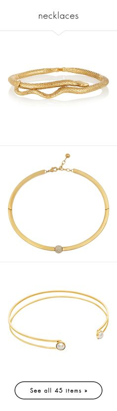 """""""necklaces"""" by killer-kitty-cat on Polyvore featuring jewelry, necklaces, accessories, bracelets, snake choker necklace, aurélie bidermann, gold plated jewelry, gold plated choker, handcrafted jewellery und choker"""