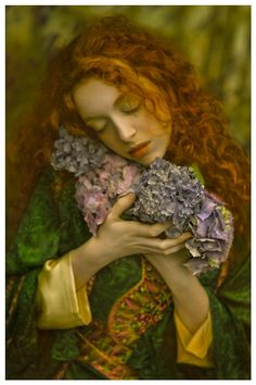 ❀ Flower Maiden Fantasy ❀ beautiful art fashion photography of women and flowers - Innocence by Agnieszka Lorek on
