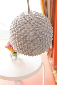 #Crochet Seashell Lamps - you would need to be careful not to use too high of a bulb wattage though.  You wouldn't want too much heat.