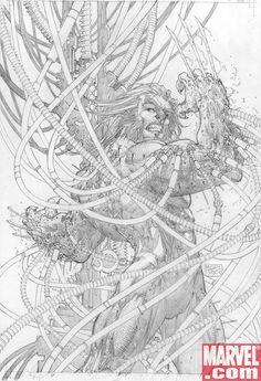 Ultimate Origins cover by Michael Turner Michael Turner, Comic Book Covers, Comic Books Art, Hulk Art, Comic Art Community, Black And White Sketches, Marvel Comics Art, Comic Artist, Line Art