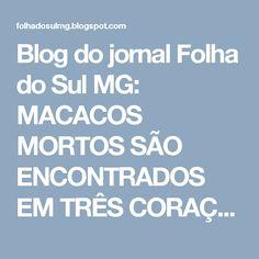 Blog do jornal Folha do Sul MG: MACACOS MORTOS SÃO ENCONTRADOS EM TRÊS CORAÇÕES E ...