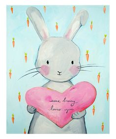 Another great find on #zulily! 'Some Bunny Loves You' Wall Art #zulilyfinds