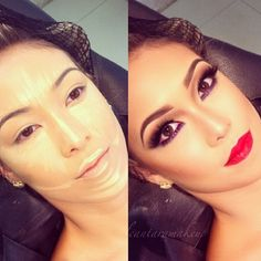 .@Huda Beauty | Beautiful makeup #beforeafter @alcantaramakeup | Webstagram