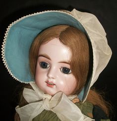 Fabulous Vintage Summer Sun Bonnet for a Large Doll from joysofyesterday on Ruby Lane