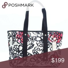 🔶️JUST IN🔶️ Coach Daisy Floral Graffiti Tote Lightly used. EUC.  More pictures to come on Friday...  Black patent leather trim with signature sateen print.  Zip top.  Fuchsia sateen interior with zipper pocket and pouches.   15in x 10in x 3.5in Coach Bags Totes