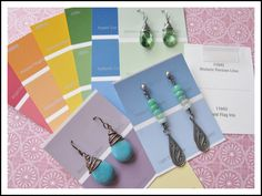 Fellow Jewelry Makers, paint chips make pretty earring display cards :)