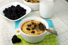 low carb Blackberry Pudding