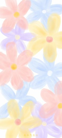 Floral Wallpaper Iphone, Cute Pastel Wallpaper, Happy Wallpaper, Soft Wallpaper, Cute Wallpaper For Phone, Cute Patterns Wallpaper, Aesthetic Pastel Wallpaper, Cute Wallpaper Backgrounds, Pretty Wallpapers