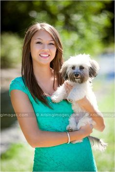 Senior pictures with your dog! So cute.