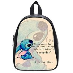 JOJO Lilo  Stitch Custom High School Backpack for Travel Party >>> Read more reviews of the product by visiting the link on the image.