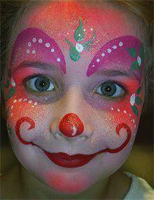 1000 images about clown schminken on pinterest clowns. Black Bedroom Furniture Sets. Home Design Ideas