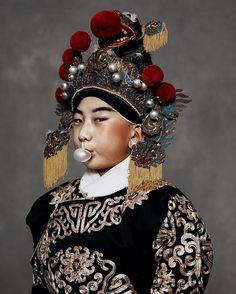 """The Opera by KIKIXUE for Bazaar China May issue.Stylist @mustylist Makeup Sunqi,Hair Zhangxiao Model Wangxingyu"""