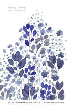 watercolor / blue - minna may | design + illustration