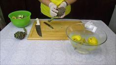 Como limpar alcachofras