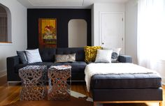 A cosmetic before u0026 after makeover Kelly Lawson Living Space! | Judith Mackin With : gus modern jane bi sectional - Sectionals, Sofas & Couches