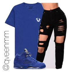 """Untitled #522"" by qveenmm on Polyvore featuring True Religion and NIKE"