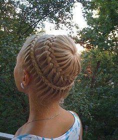 Little girl braid cute!