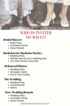Who Is Invited To What Wedding Event? To Eat Drink and be Married. Wedding planning tips and tricks. Source by The post Who Is Invited To What Wedding Event? To Eat Drink and be Married. Wedding plann& appeared first on Wedding Planning. Before Wedding, Post Wedding, Plan Your Wedding, Dream Wedding, Wedding Day, Wedding Stuff, Wedding Punch, Wedding Table, Wedding Hands