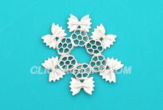Macaroni Snowflake -3 - Cool Ideas for Kids How to Make Snowflake Crafts with Macaroni