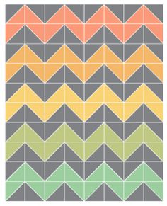 Easy Chevron baby quilt pattern