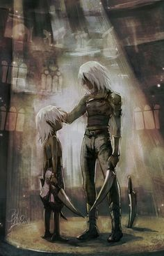Little Drizzt & Zaknafein
