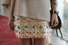 sequins, bright colors, and patterns