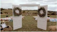 Doors for wedding ceremony.... I like it