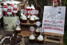 Vintage Milk & Cookies Guest Dessert Feature | Amy Atlas Events