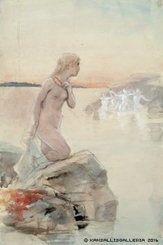 Albert Edelfelt - Discover Exceptional Oil Paintings Aino - The Largest Art reproductions in UK online. August Sander, Albert Bierstadt, Alphonse Mucha, Alfred Stevens, Alfred Stieglitz, Realistic Paintings, Vintage Artwork, New Artists, Museum