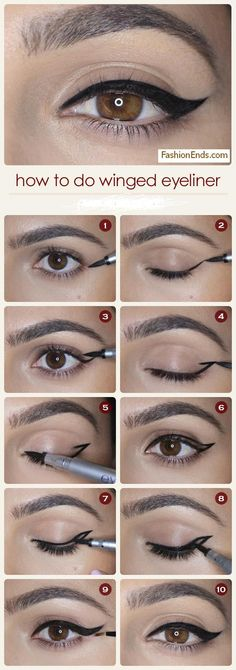 How to Apply Perfect Winged Eyeliner
