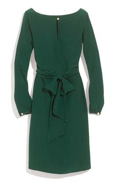 tory burch is preppier than i like, generally, but this color is beautiful // Tory Burch Kathy green Dress