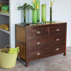Commode en teck massif L 110 cm Bamboo   Chambre   Pinterest   Teck ...