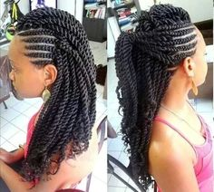 Kinky Braids Collection 55 kinky twist braids hairstyles with pictures 2020 trends Kinky Braids. Here is Kinky Braids Collection for you. Kinky Braids 84 protective kinky twist hairstyles to try on this season. Protective Hairstyles, Twist Braid Hairstyles, African Braids Hairstyles, Twist Braids, Hairstyles 2018, Side Braids, Protective Styles, Side Cornrows, Girls Braids