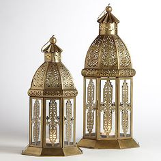 Luce Lantern Candleholder | World Market - Not sure why I like these so much - but I do!