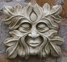 Garden Ornaments - Green Man Garden Ornaments Buy Stone Face Garden Ornament Small Bacchus We have a stunning collection of hand crafted Green Man wall decorations. Create a unique garden feature with one of our designs. Green Man, Stone Carving, Wood Carving, Tree Faces, Garden Statues, Garden Ornaments, Wood Sculpture, Metal Sculptures, Abstract Sculpture
