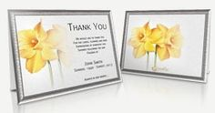 Funeral Programs Templates - Professional and Editable Thank You Card Sample, Sympathy Thank You Cards, Funeral Thank You Cards, Program Template, Place Card Holders, Templates, Store, Floral, Stencils
