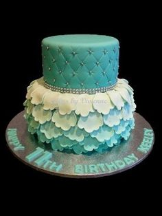 How to make ombre ruffles for a birthday cake