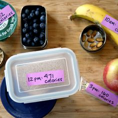 Track Your Calories: Package and Label Food For the Day