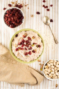 ... -the-food: Vegan Coconut Rice Pudding with Cranberries and Pistachios