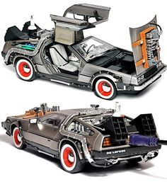 """Lots of files you want to keep with you? Then """"Back Up To The Future"""" with your own Delorean flashdrive. Marty and Doc not included."""