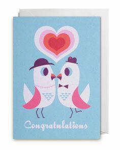 Greeting #Card #Congratulations by #Ingela P #Arrhenius from www.kidsdinge.com https://www.facebook.com/pages/kidsdingecom-Origineel-speelgoed-hebbedingen-voor-hippe-kids/160122710686387?sk=wall #love #wedding