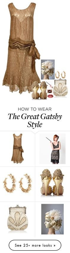 """N/A # 2270"" by wendy00 on Polyvore featuring Rosantica and Huda Beauty Great Gatsby Fashion, 20s Fashion, The Great Gatsby, Womens Fashion, Gatsby Style, Huda Beauty, Polyvore, How To Wear, Clothes"