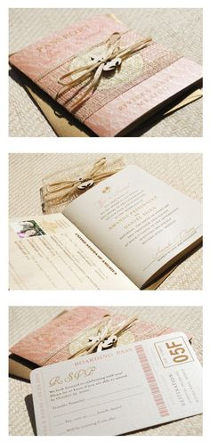 Passport wedding invitations :D Perfect for a destination wedding! <3
